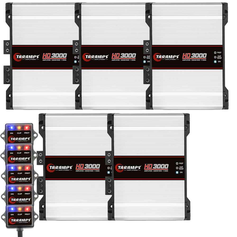 5x-amplifier-taramps-hd-3000-1-channel-3000-watts-rms-bundle
